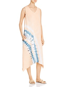 XCVI - Ciaran Puckered-Gauze Midi Dress