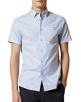 Ted Baker - Men's Cotton Short-Sleeve Slim Fit Shirt