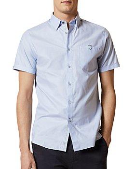Ted Baker - Men's Cotton Short-Sleeve Slim Fit Shirt