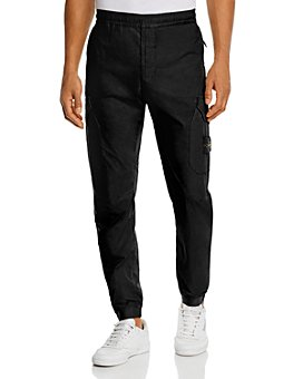 Stone Island - Cotton-Blend Solid Jogger Pants