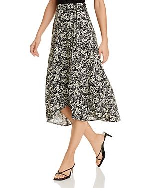 Velvet by Graham & Spencer Isadora Floral-Print Faux-Wrap Skirt