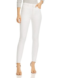 PAIGE - Hoxton Frayed-Hem Skinny Jeans
