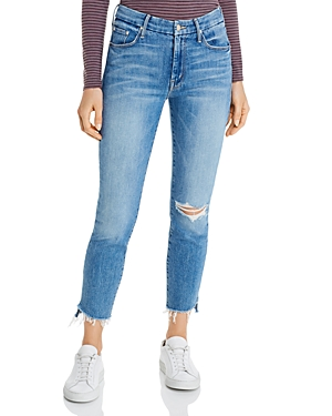 Mother The Looker Ankle Step Fray Skinny Jeans in Exposed Secret Sister-Women