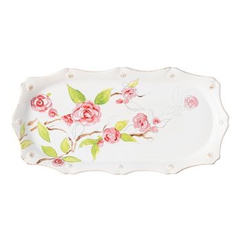 "Juliska - Berry & Thread Floral Sketch Camellia 14"" Hostess Tray"