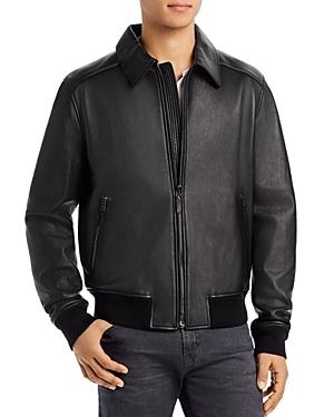 Bally Regular Fit Leather Jacket-Men