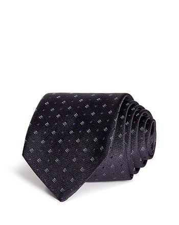 HUGO - Diamond & Dot Silk Skinny Tie