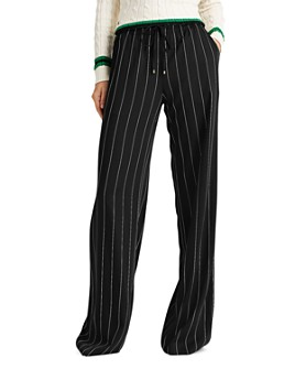 Ralph Lauren - Pinstriped Wide-Leg Pants