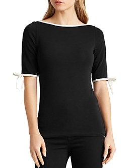 Ralph Lauren - Bow-Sleeve Top