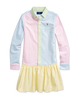 Ralph Lauren - Girls' Oxford Fun Shirtdress - Big Kid