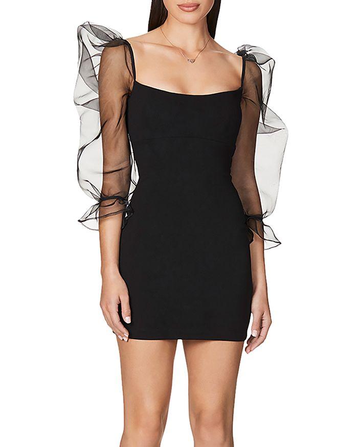 Nookie - Eleganza Organza-Sleeve Bodycon Mini Dress