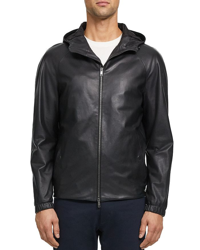 Theory - Sanford Leather Regular Fit Jacket