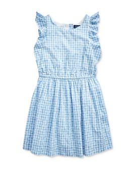 Ralph Lauren - Girls' Gingham Poplin Dress - Big Kid