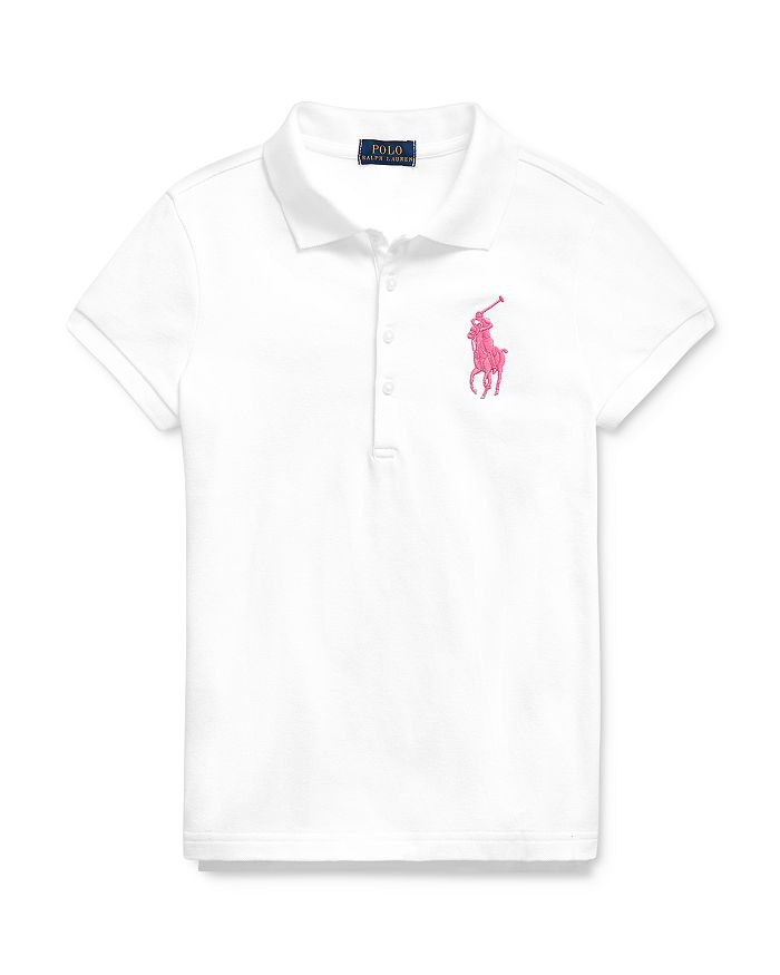 Ralph Lauren - Girls' Big Pony Mesh Polo - Big Kid