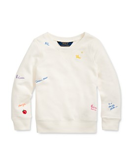 Ralph Lauren - Girls' French Terry Pullover - Little Kid