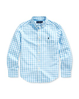 Ralph Lauren - Boys' Gingham Print Shirt - Big Kid