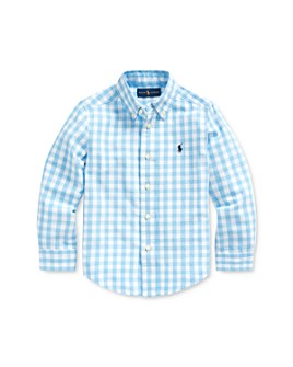 Ralph Lauren - Boys' Gingham Cotton-Blend Shirt - Little Kid