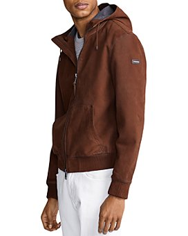 Polo Ralph Lauren - Henson Nubuck Leather Full-Zip Hoodie