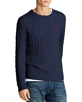 Polo Ralph Lauren - Cotton Cable-Knit Regular Fit Crewneck Sweater