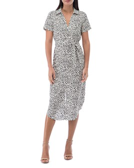 B Collection by Bobeau - Larson Speckle-Print Shirt Dress