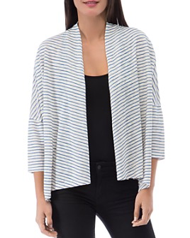 B Collection by Bobeau - Luann Striped Open-Front Cardigan