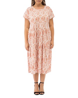 B Collection by Bobeau Curvy - Janelle Printed T-Shirt Dress