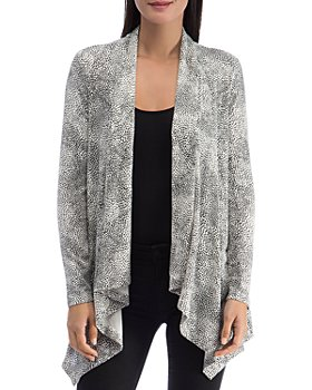 B Collection by Bobeau - Amie French Terry Printed Cardigan