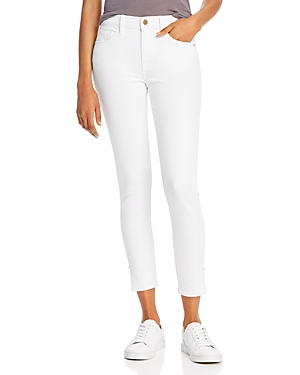 Frame Le Skinny High-Rise Ankle Skinny Jeans in Blanc-Women