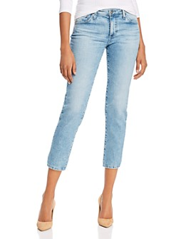 AG - Prima Mid-Rise Cropped Straight Jeans in 26 Years Skylight