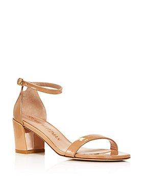 Stuart Weitzman - Women's Ankle Strap Block-Heel Sandals