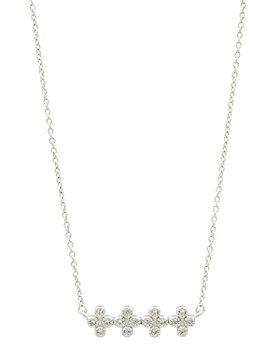 Freida Rothman - Clover Bar Pendant Necklace, 16""