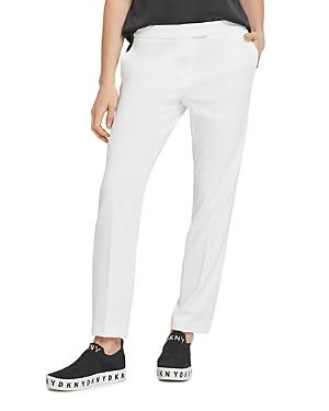 Dkny Front Tab Straight-Leg Pants-Women