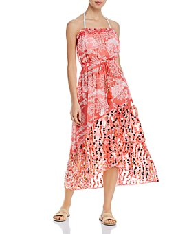 Ramy Brook - Cianna Strapless Sequined Dress Swim Cover-Up