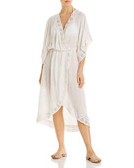 Surf Gypsy - Eyelet Maxi Dress Swim Cover-Up