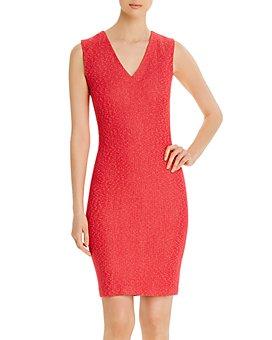 St. John - Refined Knit V-Neck Dress