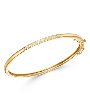 Bloomingdale's Diamond Baguette Bangle Bracelet in 14K Yellow Gold - 100% Exclusive