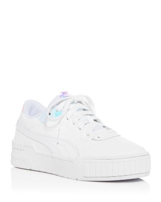 all white puma platforms
