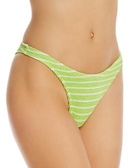 bond-eye - Striped The Scene Bikini Bottoms