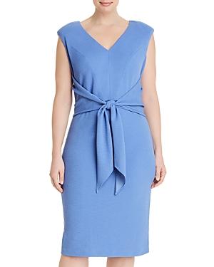 Adrianna Papell Plus Rio Knit Tie Sheath Dress