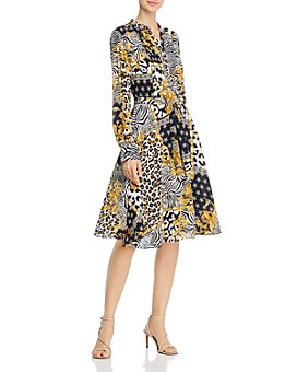 nanette Nanette Lepore - Long-Sleeve Pintucked Shirt Dress