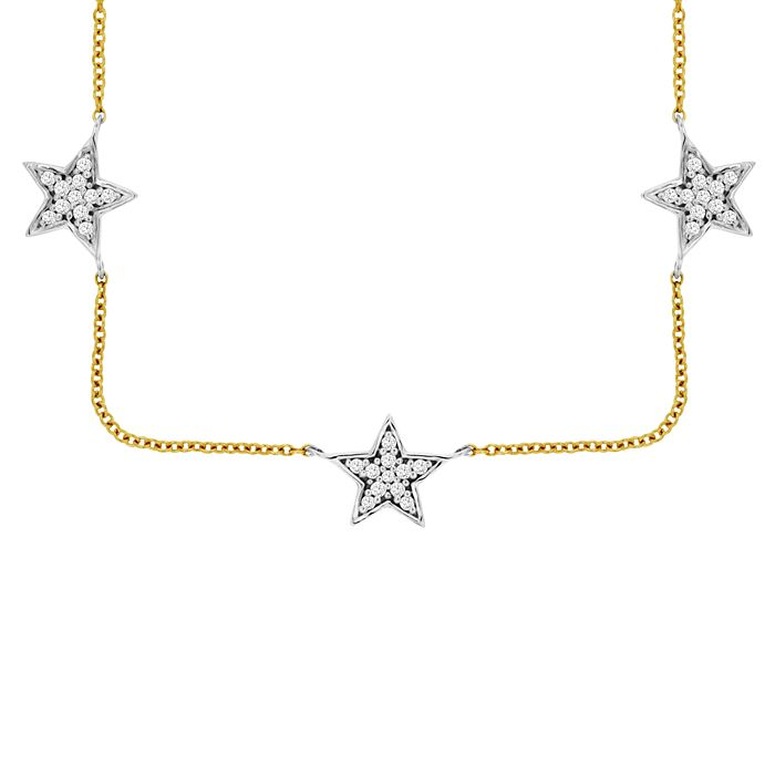 Bloomingdale's - Diamond Star Collar Necklace in 14K Yellow Gold & 14K White Gold, 0.35 ct. tw. - 100% Exclusive
