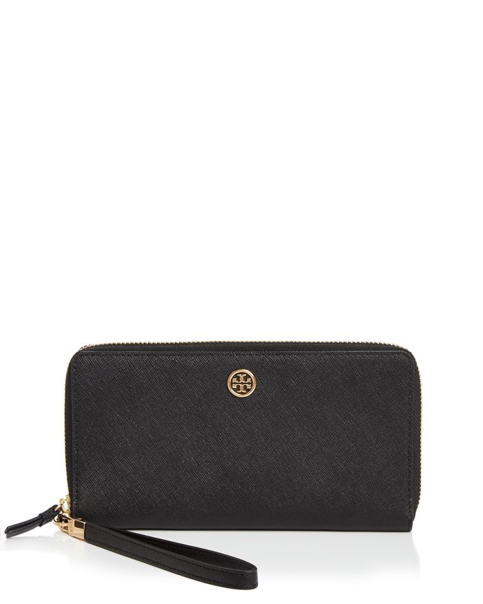 Tory Burch Robinson Continental Leather Wallet     Bloomingdale's