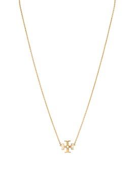 "Tory Burch - Kira Logo Pendant Necklace, 17"""