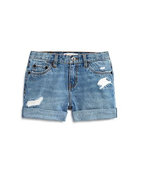 Levi's - Girls' Cotton Girlfriend Shorty Shorts - Big Kid