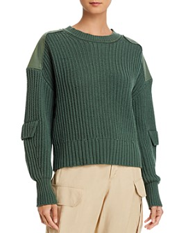 Equipment - Gelsey Cotton Long Sleeve Utility Sweater
