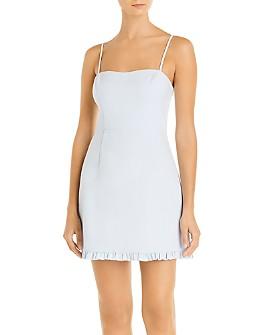 FRENCH CONNECTION - Whisper Ruffled Hem Mini Dress