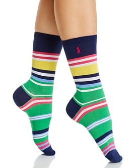 Ralph Lauren - Bold Run On Stripe Crew Socks