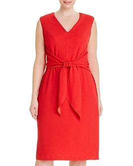 Adrianna Papell Plus - Rio Knit Tie Sheath Dress