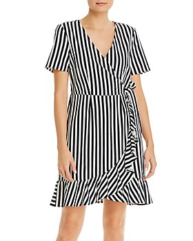 Vero Moda - Striped Faux Wrap Dress