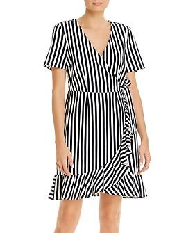 Vero Moda - Striped Faux Wrap Dress