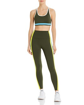 Splits59 - Splits59 Devan Racerback Bra & Jaden Striped-Trim Leggings